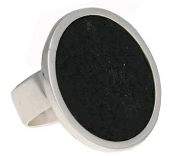 Ring, Leder, Durchmesser ca. 25 mm größenverstellbar
