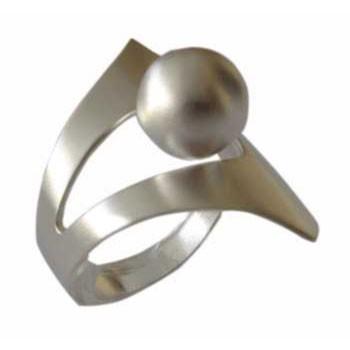 Ring mit Kugel Silber
