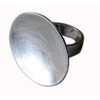 Parabolring, Silber, grobmattiert