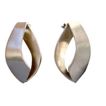 Ohrstecker, feinmatt ca. 30 x 18 mm 925er Silber