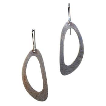 Ohrhänger, Silber, eismatt
