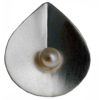 Hänger, Silber mit Perle ca. 25 x 23 mm