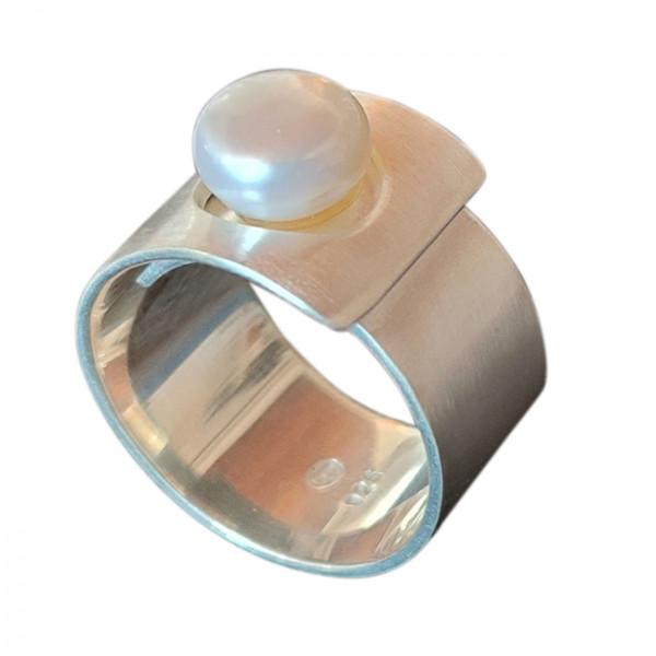Ring, Silber mit Perle