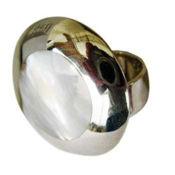 Ring mit Perlmutt Durchmesser ca.: 25 mm