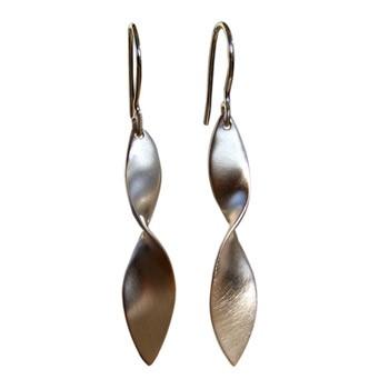 gedrehte Ohrhänger, Silber