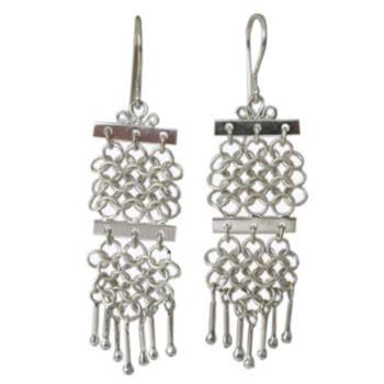 Ohrhänger,Silber, handgearbeitet