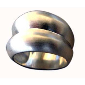 Ring , Silber, feinmatt