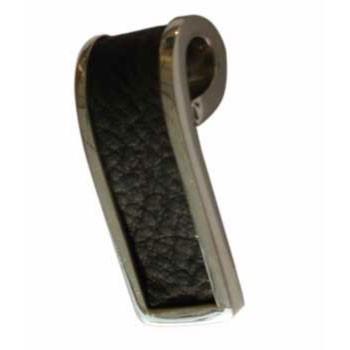 Hänger, Silber, Leder ca. 10 x 30 mm