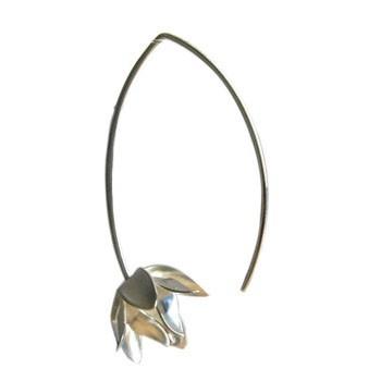 Blütenohrhänger, Silber