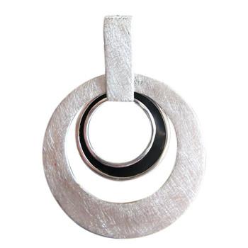 Silberanhänger mit BlackShell, icematt