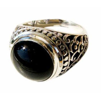 Ring,Silber, Onyx