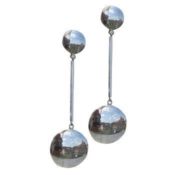 beweglicher Silberohrstecker, glänzend