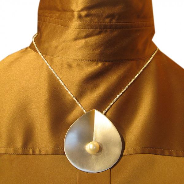 Hänger, Silber mit Perle