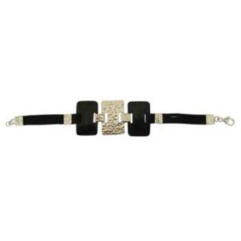 Armband mit schwarzen Horn - Elementen( 30x20mm)