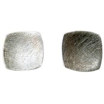 quadratische Ohrstecker, Silber
