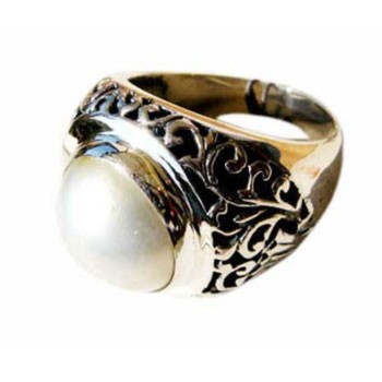 Ring, Silber, MabeePerle