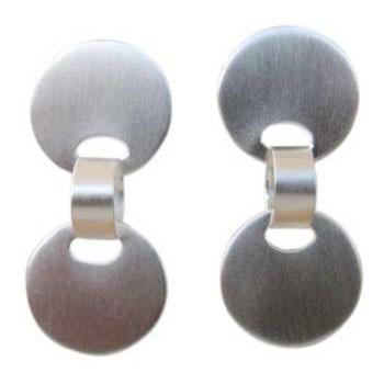Ohrstecker , beweglich ca. 40 x 20 mm