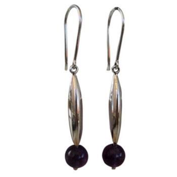 Ohrhänger mit quarz ( rot, aqua ), Onyx, Amethyst Bitte wählen Sie die Farbe ca. 40 x 7 mm