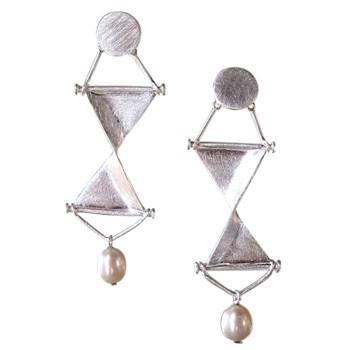 Silberohrstecker mit Perle