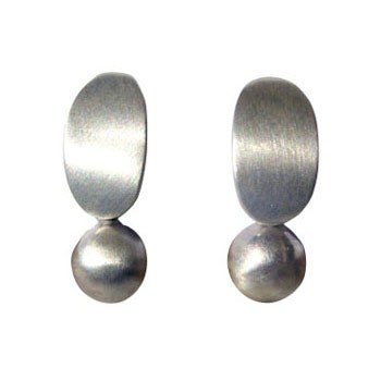 Ohrstecker, Silber mit Kugel