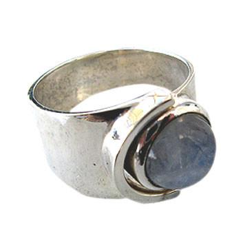 offener Silberring mit Lasbradorith