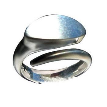 offener Ring, Silber, feinmatt