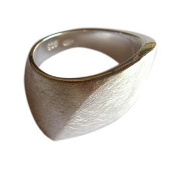 Silberring, icematt