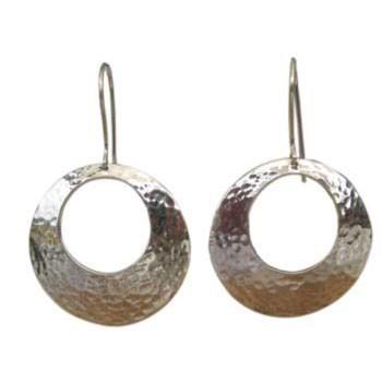 gehämmerter Ohrhänger Durchmesser ca.: 25 mm