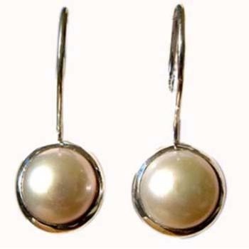 Ohrhänger,Silber mit Perle Durxchmesser ca. 8mm