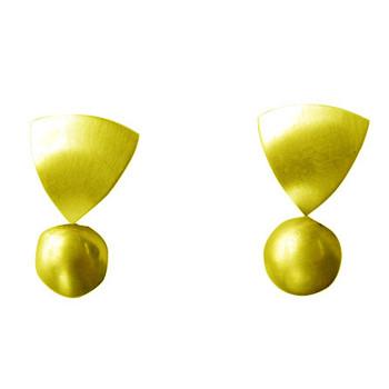 Ohrstecker, Silber,vergoldet