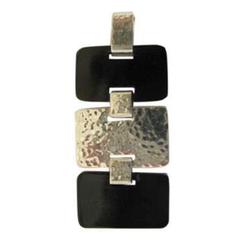 Hänger mit Horn,schwarz ca. 55 x 30 mm