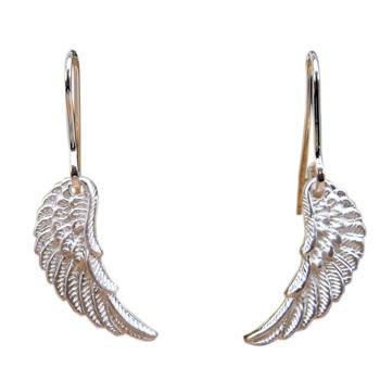 Ohrhänger, Silber, Flügel
